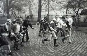 Photograph of University of Edinburgh students taking part in the Principal&#039;s Race<br /><br />